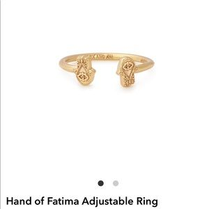 Alex and Ani Adjustable Ring-Hand of Fatima!